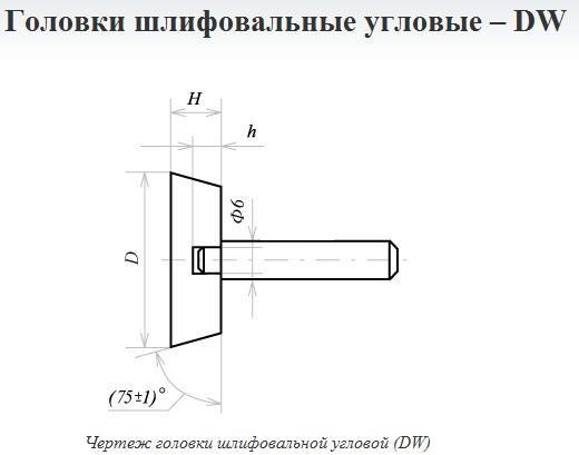 Головка абразивная угловая 16х8х6 25А 60 О